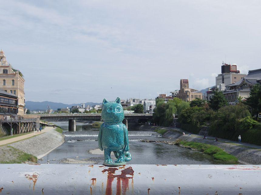 Mr Mate en el río Kamogawa Kyoto