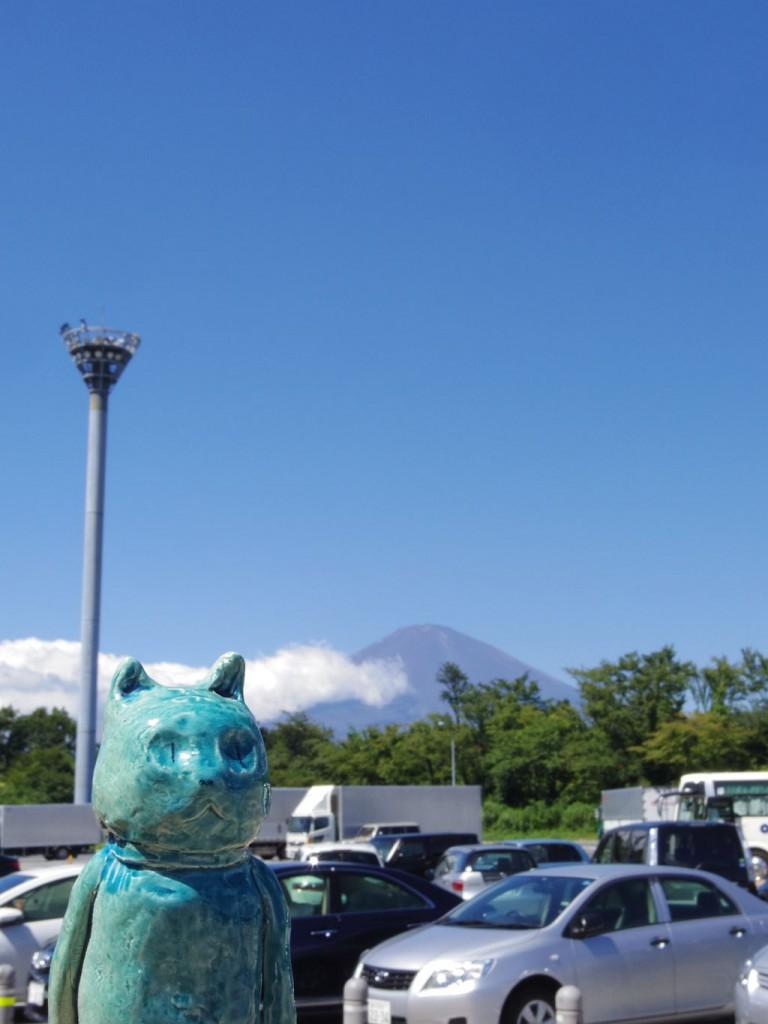 Mr Mate y el Monte Fuji a su espalda.